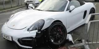 police porsche thief totals porsche boxster gts in high speed police pursuit
