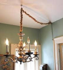 Chandelier Cover Hang A Chandelier Without Hardwiring By Converting To A L And