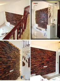 Kitchen Backsplash Wallpaper by Dhl Wooden Mosaics 3d Wall Panel Board Tiles Mixed Home Decoration