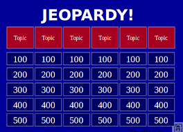 Jeopardy Powerpoint Template With Music Jeopardy Template Free Jepordy Template