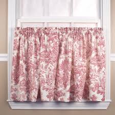 victoria park toile tier curtain pair