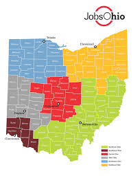 Map Of Ohio State by Map Of Jobsohio Network Regions