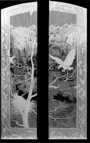 etched glass doors crystal glass studio architectural etched glass for windows