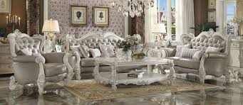 empire white sofa and loveseat