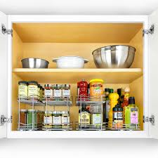 kitchen cabinet pull out storage racks 430422 professional roll out spice organizer two tier