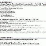 Sample Housekeeper Resume by Resume Housekeeper Example Exemple Gratuit Modles De Curriculum