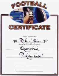 football certificates templates uk image collections templates