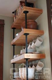 Pipe Shelves Kitchen by