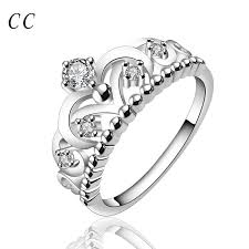 beautiful diamonds rings images New design white created rings for women nobby delicate silver jpg