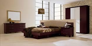 Bedroom Set With Leather Headboard Miss Italia 03 Modern Platform Bedroom Set