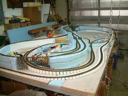 ho train layout built with foam board google search train