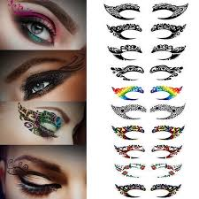 10 pairs temporary eye stickers waterproof colorful