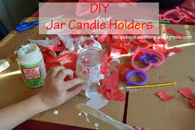 easy kid craft glass jar candle holders food fam crafts fun