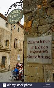chambres d h es carcassonne signs advertising chambre d hotes in the cathar city of stock