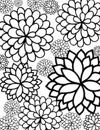 coloring pages free printable bursting blossoms flower coloring