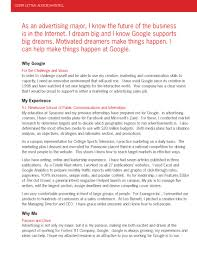 cover letter for sports job sample cover letter to a google recruitervault blogsvaultcom