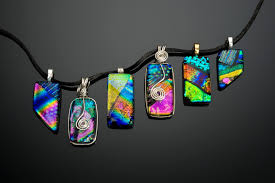 glass jewelry necklace images Dichroic glass jewelry visarts jpg