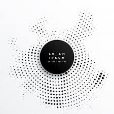 black white design circular halftone dots background design vector free download