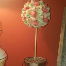 Mantel Topiaries - red white and blue topiary trees 4th of july home decor
