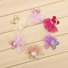 30 pieces lot diy handmade hair accessories lace skirt minnie