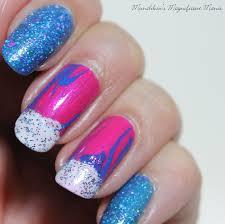 munchkin u0027s magnificent manis unicorn frap water marble nail design