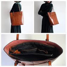 Handmade Leather Tote Bag - handmade s fashion leather tote bag handbag shoulder bag