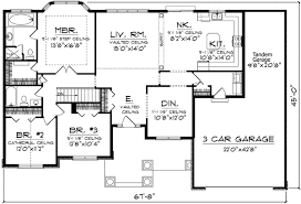 spacious ranch home plan with alternates 89032ah architectural