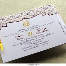 Wedding Invitation Hindu Ganesh Purple Indian Wedding Invitations Imbue You
