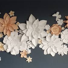 wall flowers paper flowers wall flowers garlands and bouquets paper bloom