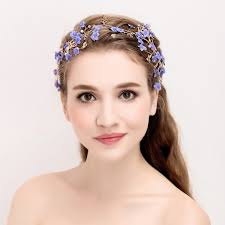 hair wreath jonnafe purple flower hair wreath bridal headband pearl