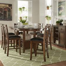 Extended Dining Table Tuscany Brown Wood Wine Rack Counter Height Extending Dining Table
