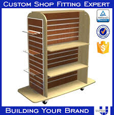 Shelves With Wheels by Good Design Angled Display Slatwall Shelves With Wheels Buy