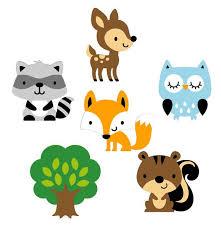 woodland creatures baby shower set of 6 woodland animal die cuts woodland baby shower paper