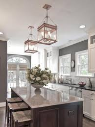 kitchen mesmerizing red pendant lights and white recessed