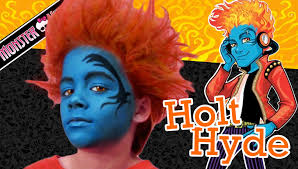 Halloween Monster High Doll Holt Hyde Monster High Doll Costume Makeup Tutorial For Halloween