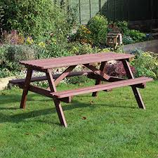 Picnic Table Frame Chester A Frame 6 Seater Wooden Picnic Table Bench 5ft 150cm 6