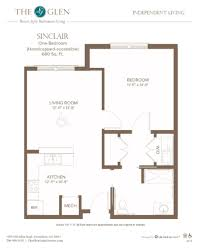 floor plans the glen sinclair handicapped accessible independent living floor plans