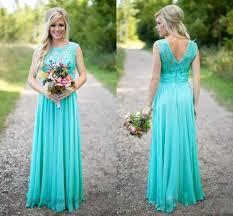 custom made wedding dresses uk 2016 cheap bridesmaid dresses teal chiffon a line scoop neck