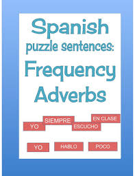 spanish adverbs of frequency crossword worksheet and vocabulary by