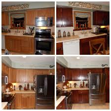Oak Cabinet Kitchens Honey Oak Kitchen Restained Using General Finishes Brown Mahogany