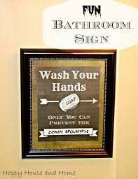 this free printable makes the cutest fun bathroom sign wash your