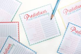 free printable baby shower prediction cards party delights blog