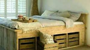 king size pallet bed frame instructions diy queen with storage