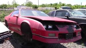camaro salvage yard 80s camaro iroc z in the junk yard