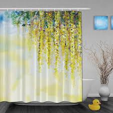yellow fl shower curtain shower curtains shower curtain tracks bed online get yellow flowers shower curtain aliexpress