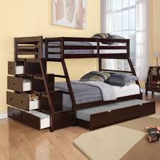 Hardwood Bunk Bed Bunk Bed With Stairs Drawers On Beige Floor Matched