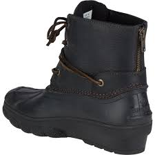 womens duck boots uk uk womens sperry saltwater wedge tide duck boot in black