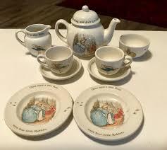 wedgwood rabbit tea set wedgwood beatrix potter rabbit child s tea set everything