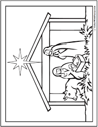nativity coloring sheets nativity scene coloring picture
