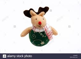 Deer Christmas Decorations Funny fun soft toy rudolph the red nosed reindeer christmas decoration